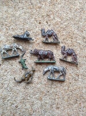 Group Of Metal Animals