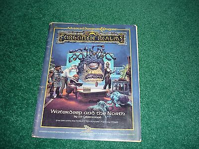 FR1 Waterdeep and the North Forgotten Realms AD&D D&D TSR9213 Ed Greenwood
