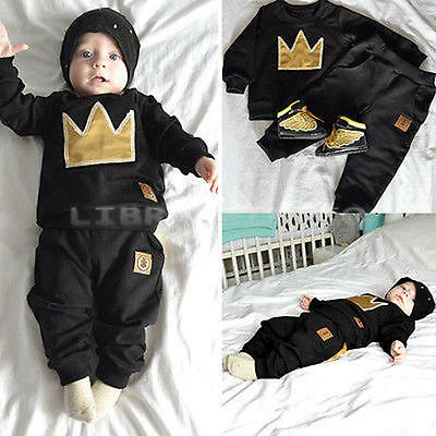 Infant Baby Outfits Sets Cotton Cartoon Print T-shirt Pants for18-24M Boys Girls