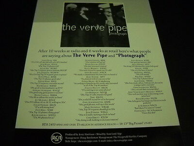 VERVE PIPE after 10 Weeks and 6 Weeks 1966 Promo Display Advert mint condition