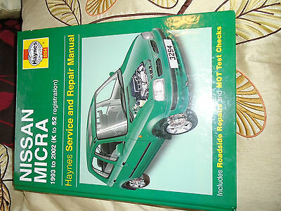 Haynes Nissan Micra Manual ( K11 ) 1993 To 2002 / K To 52 Plates Vgc