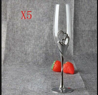 New 5X Capacity 220ML Height 260MM Creative Champagne Wine Glass/Glassware %