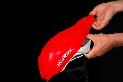 Velotoze Helmet Cover - Waterproof & Aero - Red