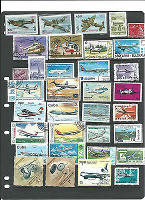 Aircraft Aviation Thematic Stamp Majority Used