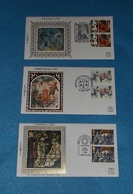 Small Benham Covers Christmas Booklet Stamps 1990-1992 - Select Individual Cover