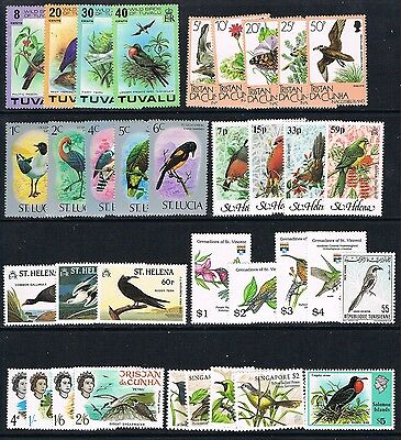 Birds selection of 35 unmounted mint/MNH