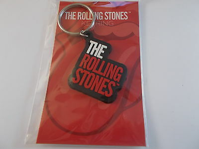 Rolling Stones Key Chain Red & White Letters On Black