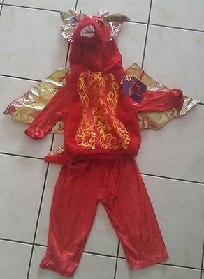 Déguisement neuf dragon taille 24 mois costume 2 pièces  2 ans 2 years new