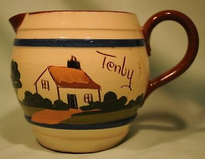Longpark Pottery Cream jug Cottage Decoration, from Tenby Great Condition