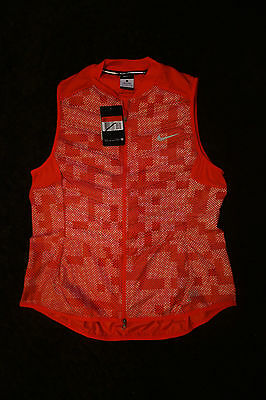 BNWT Nike Coral Lightweight Reflective Woman's Running Gilet/Bodywarmer Large
