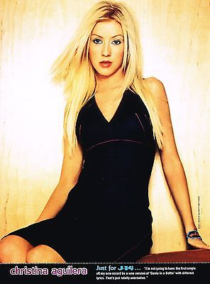 "CHRISTINA AGUILERA - CARSON DALY - GREAT CLOSE-UP - 11"" x 8"" PINUP - POSTER"