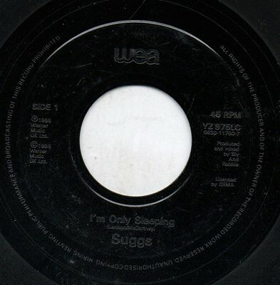 """SUGGS - I'M ONLY SLEEPING / OFF ON HOLIDAY   - 7"""" 45RPM - UK jukebox"""