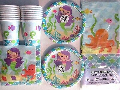 MERMAID FRIENDS - Birthday Party Supply Kit for 16