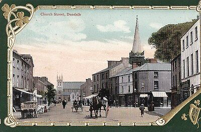h irish postcard ireland louth church street dundalk