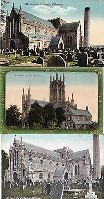 g irish 3 postcards ireland kilkenny