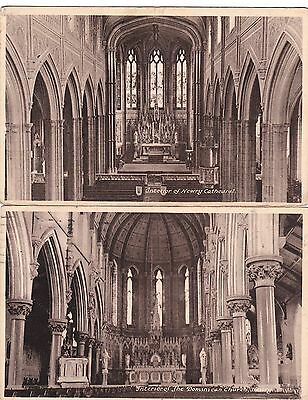 g northern ireland 2  postcards ulster irish co down newry church & cathedral