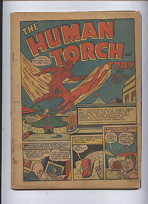 Human Torch Golden Age Timely Comic #3(2)  Rare Sub Mariner Poor Free Ship