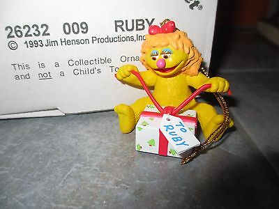 GROLIER Christmas on Sesame Street RUBY Ornament with BOX