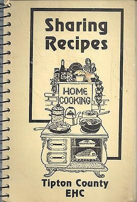 *tipton County In Vintage *extension Homemakers Ehc Cook Book *sharing Recipes