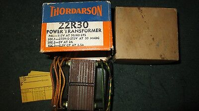 (1) NOS NIB Thordarson 22R30 Power Transformer