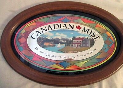 1996 Retro Canadian Mist Framed Advertising Mirror -Mancave, Gameroom, Bar, Dorm