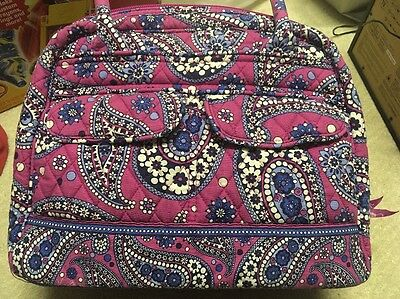 Vera Bradley Boysenberry Matching Set handbag Wallet Cosmetic Case Purple