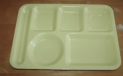 Melamine Home Dinner Wear Serving Lunch Tray Pale YELLOW