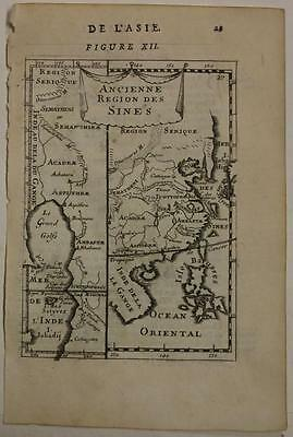 China Korea Philippines Malay 1683 Manesson Mallet Antique Copper Engraved Map