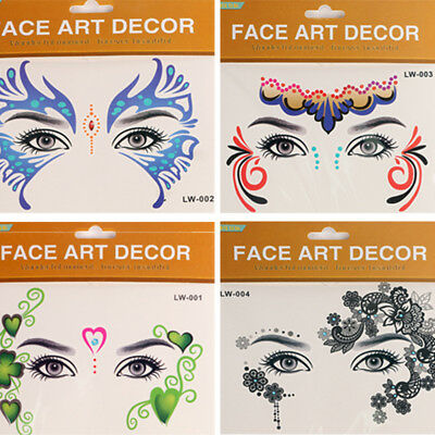 Fashion Eyes Temporary Tattoo Face Make-Up Stickers Art Lace Party Night Club