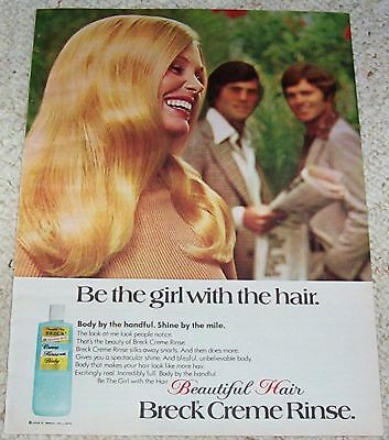 1975 vintage ad - Breck beautiful hair rinse PRETTY blonde girl AD