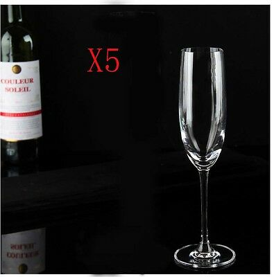 New 5X Capacity 165ML Height 229MM High Foot Champagne Wine Glass/Glassware %