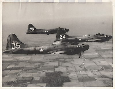 THREE B-17 FLYING FORTRESS BOMBERS IN FORMATION ~ c. - 1944