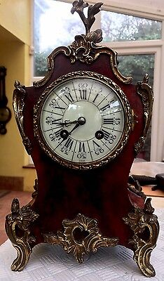 Antique French Mantel Clock With Jappy Freres Movement