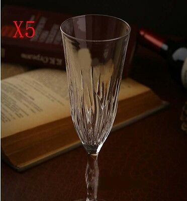 New 5X Capacity 200ML  Height  225MM  Transparent  Champagne Glass/Glassware %