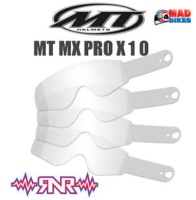Rip N Roll Enduro MX Goggle Tear Offs For MT Pro III Goggles. x 10