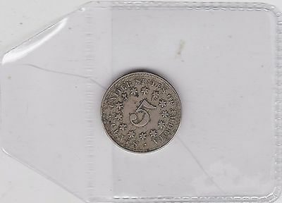Usa 1868 Five Cents In Good Fine Condition
