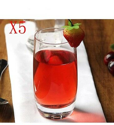 New 5X Capacity 260ML Height 130MM Straight Body Whisky Wine Glass/Glassware %