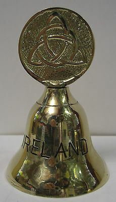 Ireland Hand Crafted Brass Bell Trinity Knot