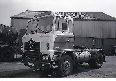 B/w Photo Robsons (United Glass) Foden Tractor Unit - Osx 712V