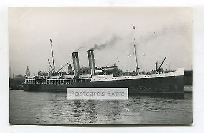 """Ferry """"Bruges"""" in unknown port - old postcard-sized photo"""