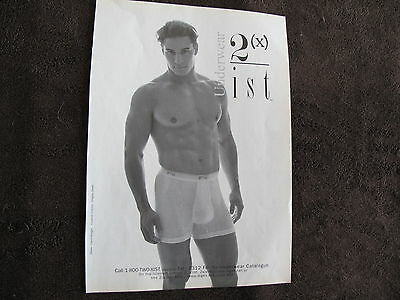2 (X) Ist Men Underwear Print Ad ,clipping 1994