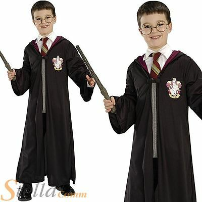 Harry Potter Official Costume Kit Boy's Book Week Fancy Dress Robe Glasses Wand