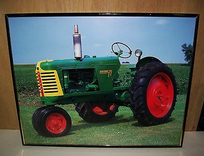 "Framed Oliver Row Crop 77 Tractor Art Print - 20"" x 16"""