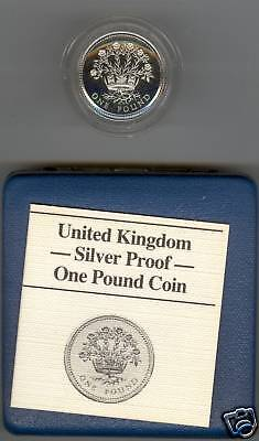 1986 Boxed Standard Proof £1 Northern Ireland