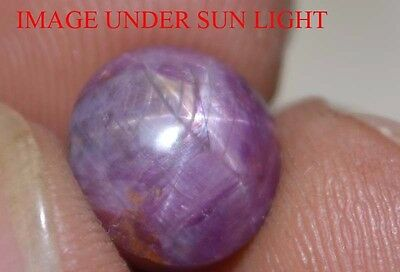6.25 Cts NATURAL STAR RUBY/SAPPHIRE BEAUTIFUL UNHEATED UNTREATED {VIDEO} F2258