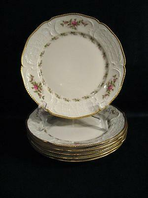 Rosenthal Germany Sanssouci Barbara Ivory (Gold Trim) Salad Plates - Six