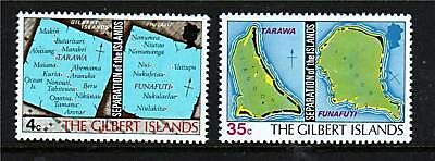 Gilbert Is 1976 Seperation of Islands SG1/2 MNH