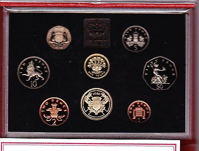 1986 Deluxe Red Proof Set Of 8 Coins