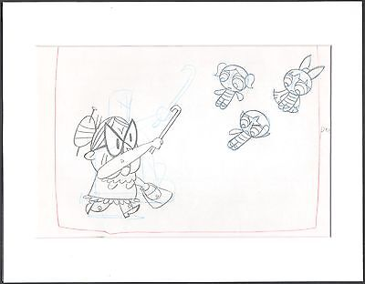 The Powerpuff Girls Production Cell Drawing Cartoon Network COA Seal 2*