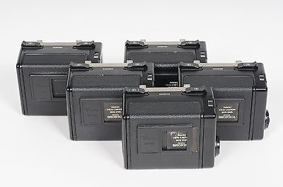 LOT of 5 -- Bronica ETR 220 Roll Film Back Magazine (no dark slide)